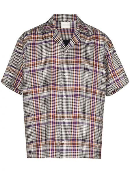 Koszula krótkie z krótkim rękawem fioletowy karmazynowy Lou Dalton