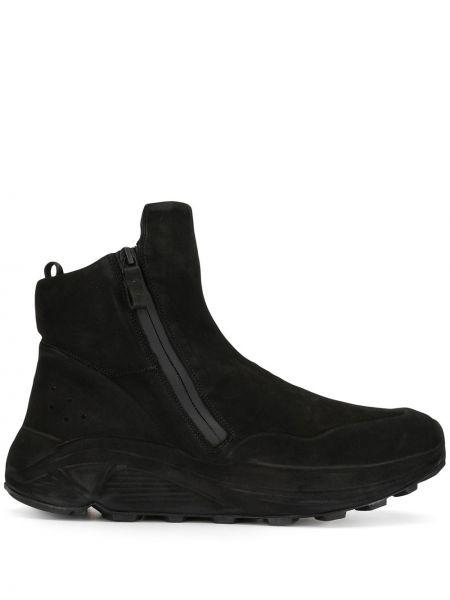 Кожаные высокие кроссовки - черные Officine Creative