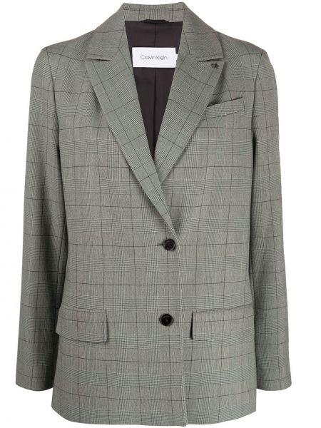 Однобортный удлиненный пиджак с карманами Calvin Klein