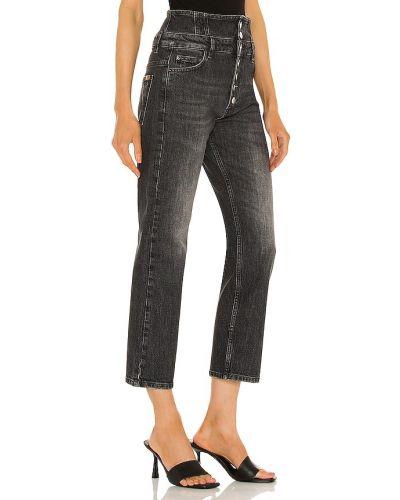 Klasyczne czarne jeansy z wysokim stanem bawełniane Marissa Webb