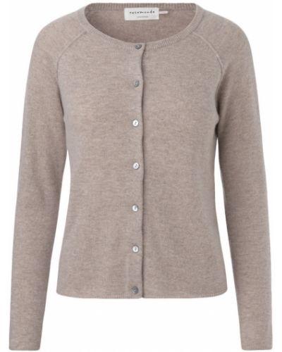 Beżowy z kaszmiru sweter Rosemunde