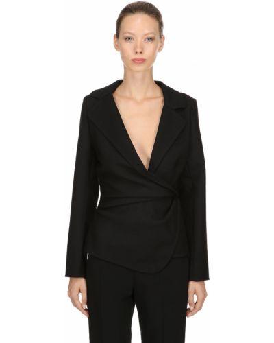 Шерстяной черный пиджак с отворотом Jacquemus
