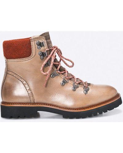 Кожаные сапоги на шнуровке на каблуке Marc O'polo