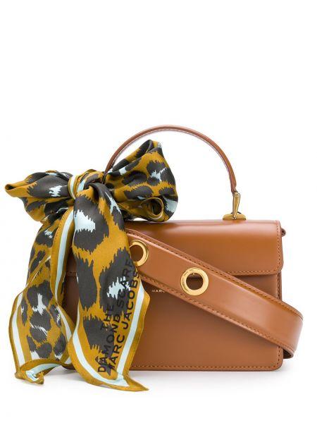Кожаная сумка - коричневая Marc Jacobs