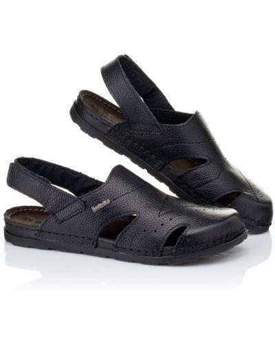 Черные кожаные сандалии Inblu