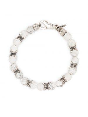 Biała bransoletka srebrna Emanuele Bicocchi