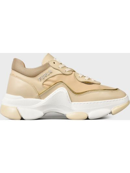 Кожаные кроссовки - бежевые Furla