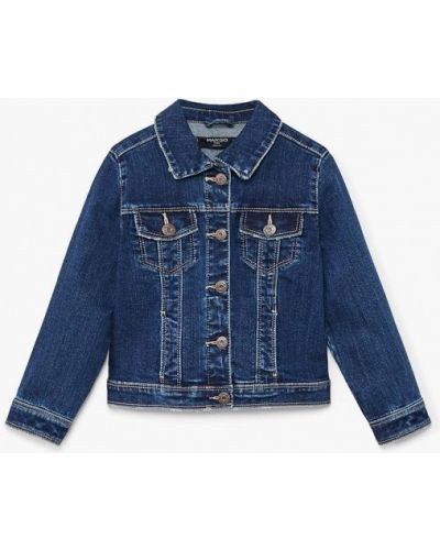 Синяя куртка джинсовая Mango Kids