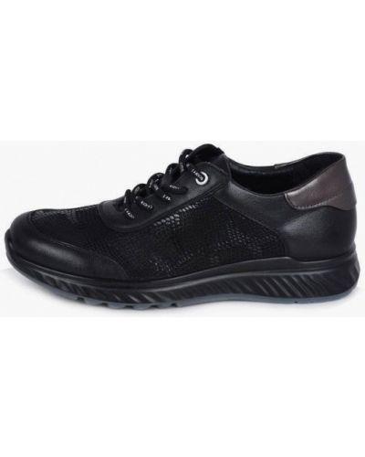 Кожаные кроссовки - черные Kari