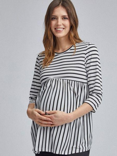 Блузка с длинным рукавом белая для беременных Dorothy Perkins Maternity