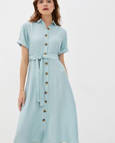 Прямое бирюзовое платье Defacto