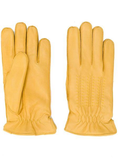 Żółte rękawiczki skorzane Orciani