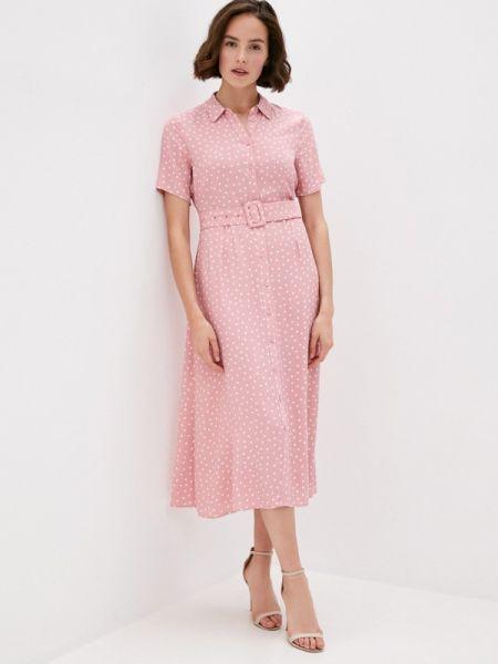 Платье платье-рубашка розовое Marks & Spencer