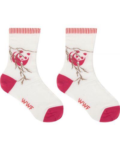 Носки бежевые розовый Doa