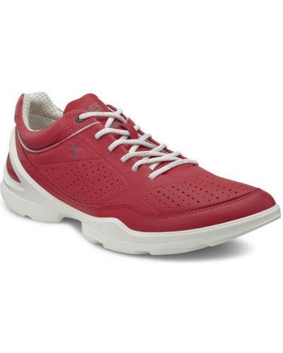 Кожаные кроссовки текстильные свободного кроя Ecco