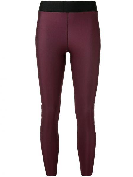 Нейлоновые фиолетовые спортивные брюки с высокой посадкой эластичные Ultracor