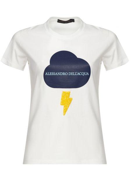 Футбольная белая футболка с пайетками Alessandro Dell'acqua