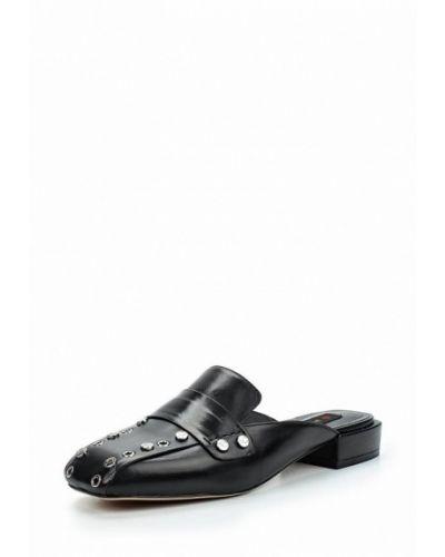 Черное сабо кожаные Winzor