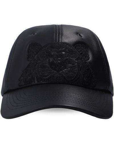 Czarna czapka z daszkiem Kenzo