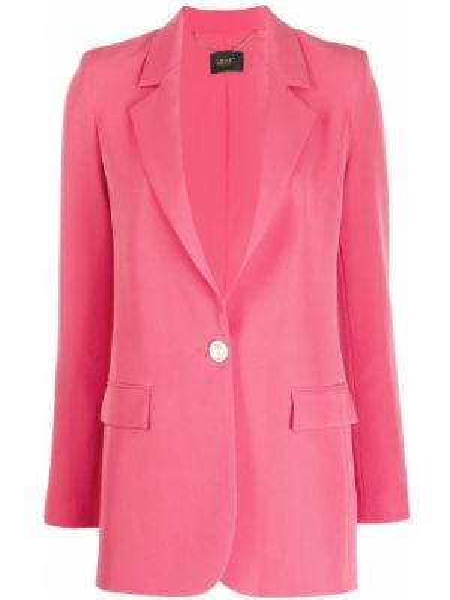 Классический пиджак с накладными карманами розовый Liu Jo