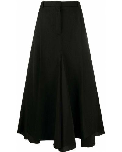 С завышенной талией прямая черная юбка годе Nina Ricci