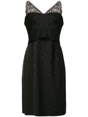Хлопковое платье миди - черное Stella Mccartney