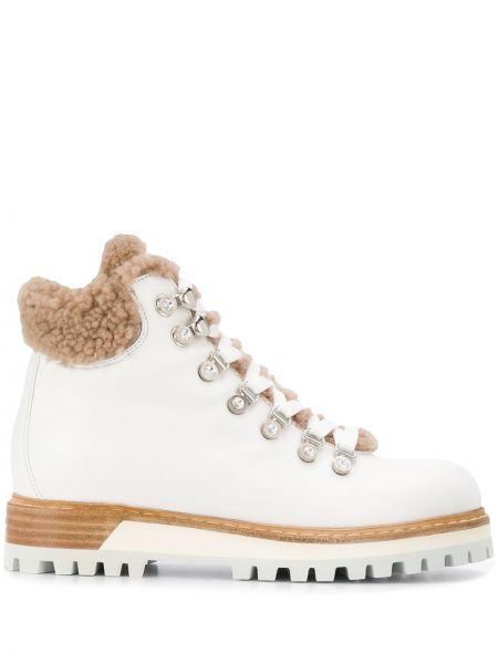 Ботинки на каблуке на шнуровке без каблука Le Silla