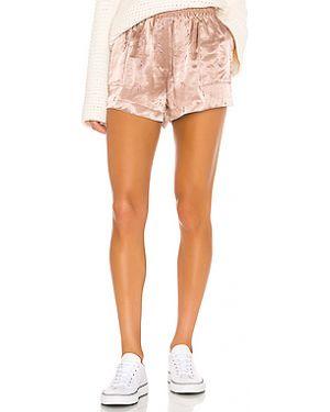 Розовые шорты с карманами из вискозы Grlfrnd