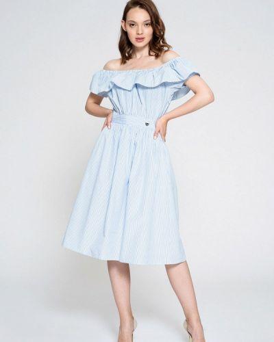 Платье с открытыми плечами осеннее Luisa Wang