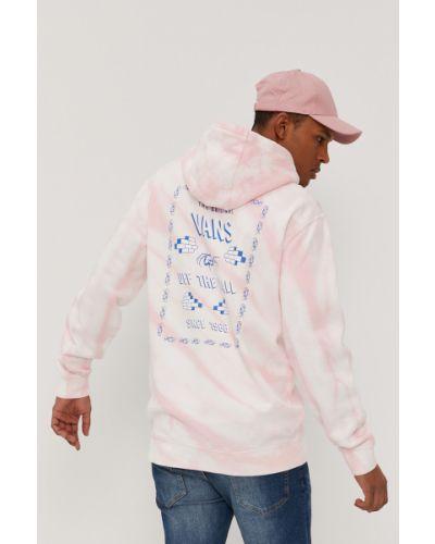 Różowa bluza z kapturem bawełniana Vans