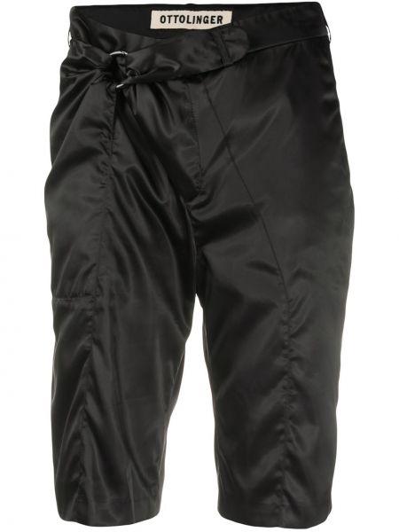 Прямые черные шорты с карманами Ottolinger