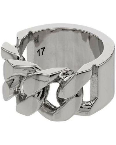 Pierścionek srebrny - szary Alexander Mcqueen