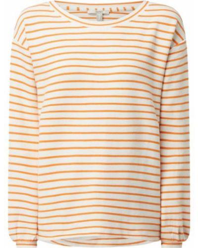 Pomarańczowa bluza w paski bawełniana Esprit
