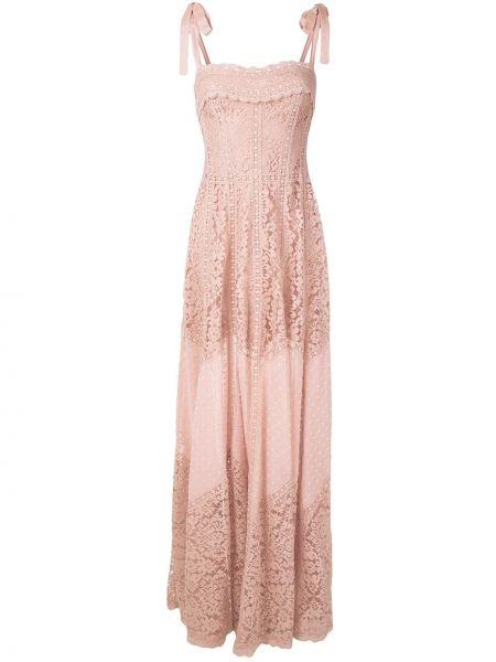 Прямое розовое платье с воротником на молнии Martha Medeiros