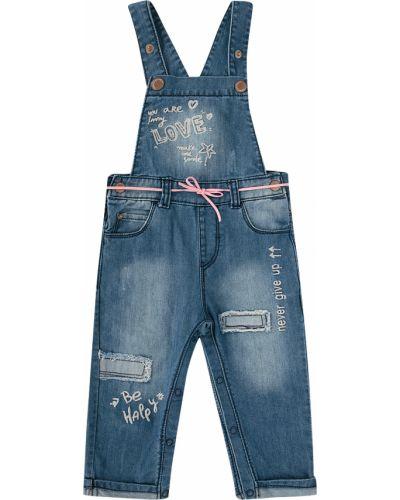 Полукомбинезон джинсовый синий Fun Time