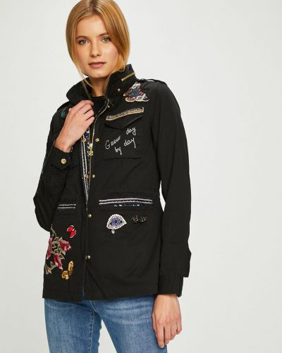 Утепленная куртка с капюшоном укороченная Desigual