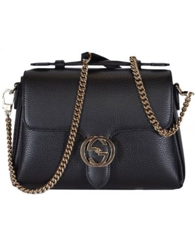 Czarna torebka na łańcuszku skórzana Gucci