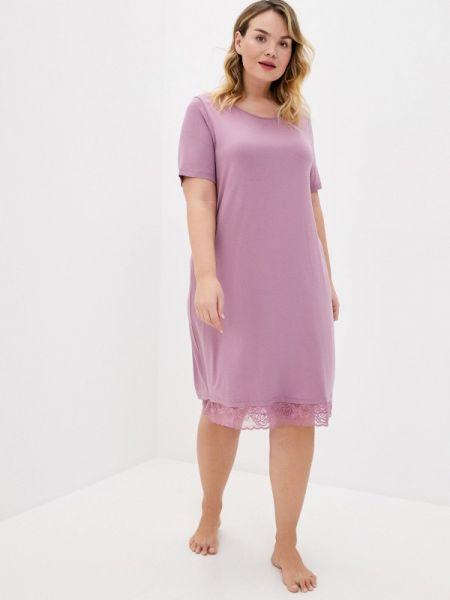 Платье весеннее фиолетовый Ulla Popken