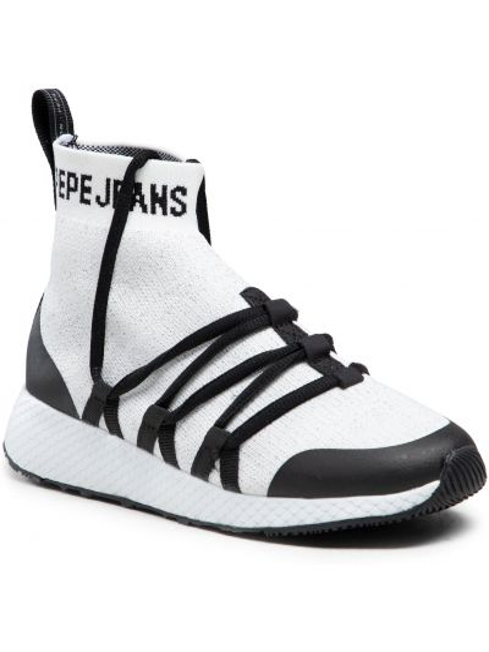 Półbuty casual - białe Pepe Jeans