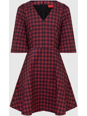 Платье мини в клетку - бордовое Max & Co
