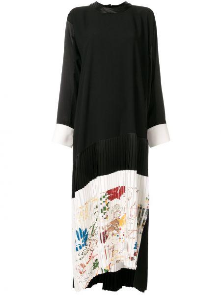 Платье макси на пуговицах плиссированное Tory Burch