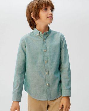 Zielona koszula bawełniana na co dzień Mango Kids