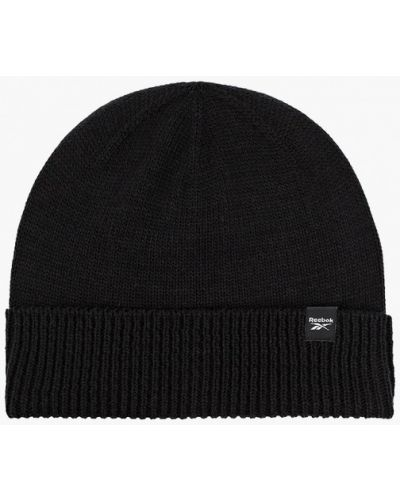 Черная зимняя шапка Reebok
