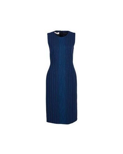Шерстяное платье - синее Marni