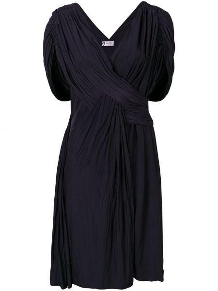 Платье миди с открытой спиной коктейльное Lanvin