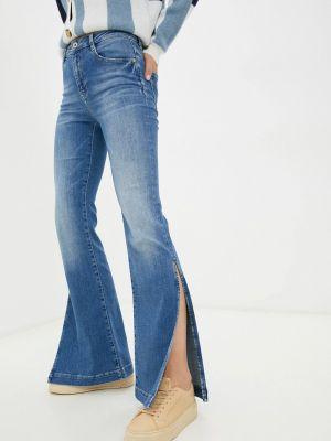 Голубые джинсы клеш расклешенные Miss Sixty
