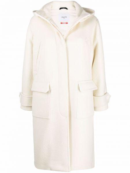 Белое пальто с воротником PaltÒ