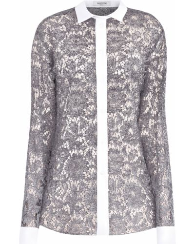 Блузка из вискозы мерцающий Valentino