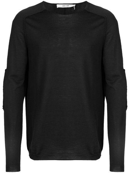 Prążkowany czarny sweter wełniany Damir Doma