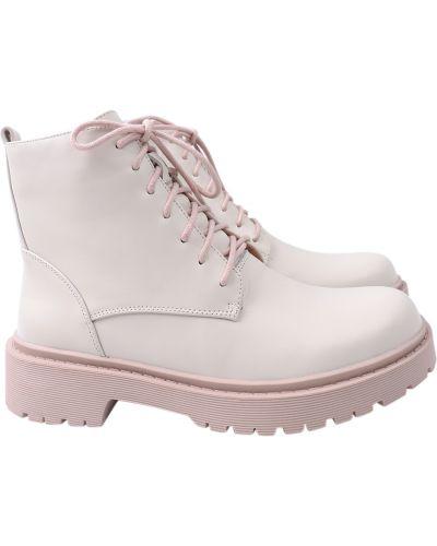 Кожаные ботинки - бежевые Erisses